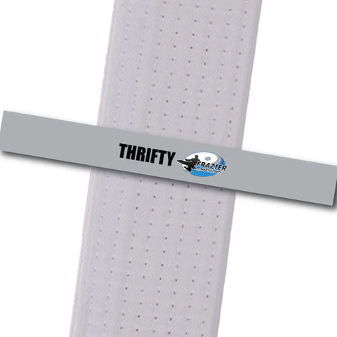 Frazier Martial Arts - Thrifty Custom Belt Stripes - BeltStripes.com : The #1 Source for Martial Arts Belt Tape