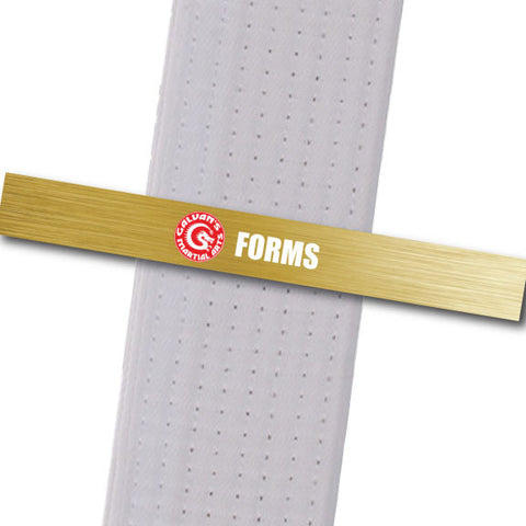 Galvans MA - Forms Achievement Stripes - BeltStripes.com : The #1 Source for Martial Arts Belt Tape