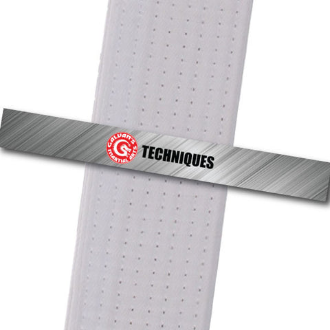 Galvans MA - Techniques Achievement Stripes - BeltStripes.com : The #1 Source for Martial Arts Belt Tape