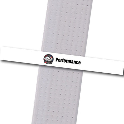 Gracie PAC MMA - Performance - White Custom Belt Stripes - BeltStripes.com : The #1 Source for Martial Arts Belt Tape
