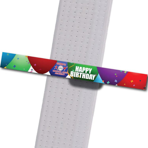 Guidos MA - Happy Birthday Custom Belt Stripes - BeltStripes.com : The #1 Source for Martial Arts Belt Tape