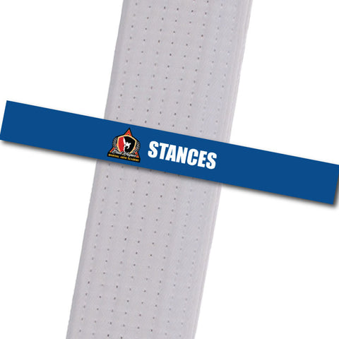 Haynes Martial Arts-Stances Custom Belt Stripes - BeltStripes.com : The #1 Source for Martial Arts Belt Tape