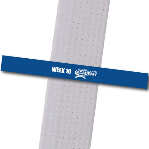 John Geyston MA - Week 10-Blue Achievement Stripes - BeltStripes.com : The #1 Source for Martial Arts Belt Tape