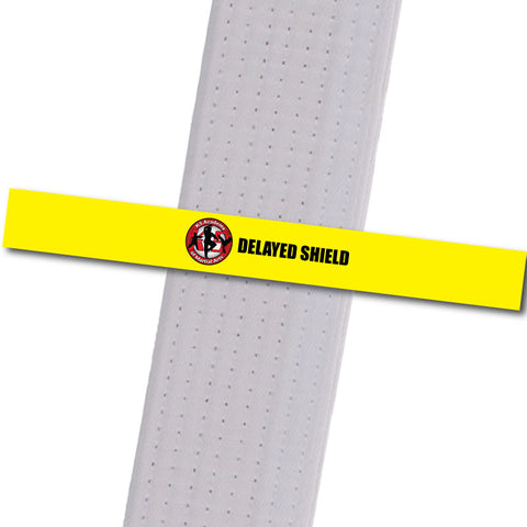 K5 MA - Delayed Shield - Yellow Achievement Stripes - BeltStripes.com : The #1 Source for Martial Arts Belt Tape