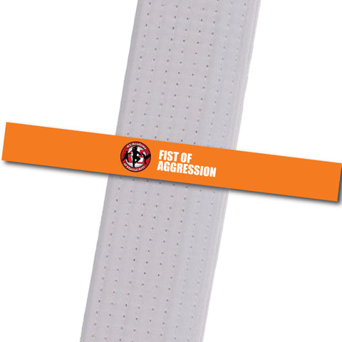 K5 MA - Fist of Aggression Achievement Stripes - BeltStripes.com : The #1 Source for Martial Arts Belt Tape