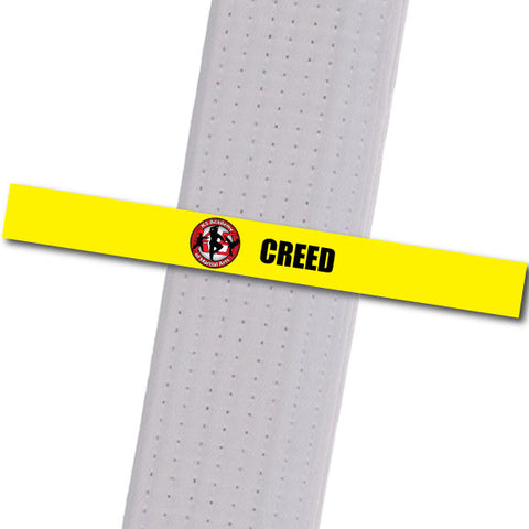 K5 MA - Creed Achievement Stripes - BeltStripes.com : The #1 Source for Martial Arts Belt Tape