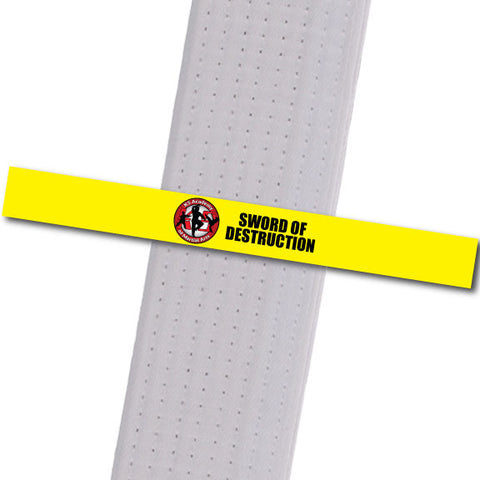 K5 MA - Sword of Destruction Achievement Stripes - BeltStripes.com : The #1 Source for Martial Arts Belt Tape