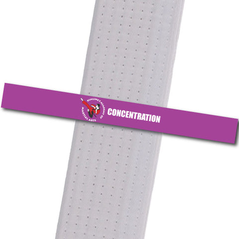 Kimling's Academy - Concentration Achievement Stripes - BeltStripes.com : The #1 Source for Martial Arts Belt Tape