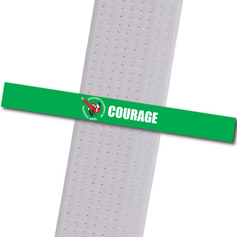 Kimling's Academy - Courage Achievement Stripes - BeltStripes.com : The #1 Source for Martial Arts Belt Tape