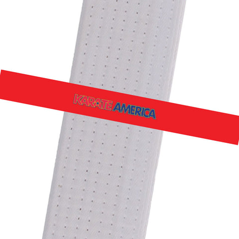 Karate America- Daniel Gimenez - Red with Logo Karate America - Daniel Gimenez - BeltStripes.com : The #1 Source for Martial Arts Belt Tape