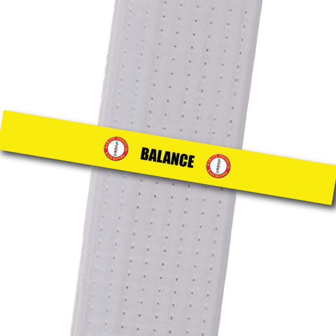 Karate Institute - Balance Custom Belt Stripes - BeltStripes.com : The #1 Source for Martial Arts Belt Tape