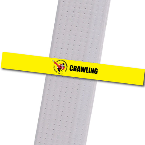Kimling's Academy - Crawling Achievement Stripes - BeltStripes.com : The #1 Source for Martial Arts Belt Tape