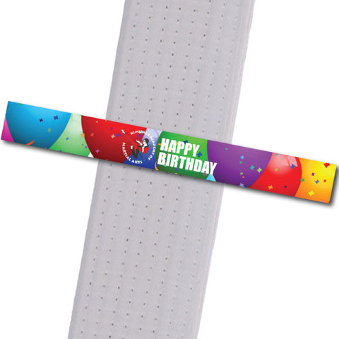 Kimling's Academy - Happy Birthday Achievement Stripes - BeltStripes.com : The #1 Source for Martial Arts Belt Tape