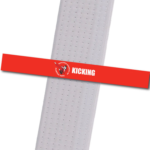 Kimling's Academy - Kicking Achievement Stripes - BeltStripes.com : The #1 Source for Martial Arts Belt Tape