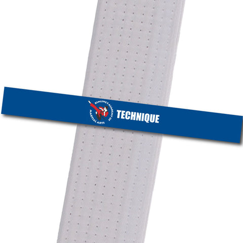 Kimling's Academy - Technique Achievement Stripes - BeltStripes.com : The #1 Source for Martial Arts Belt Tape