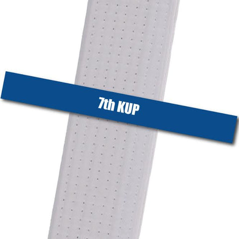 Kim's Tae Kwon Do - 7th Kup Achievement Stripes - BeltStripes.com : The #1 Source for Martial Arts Belt Tape
