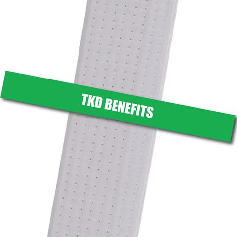 Kim's Tae Kwon Do - TKD Benefits Achievement Stripes - BeltStripes.com : The #1 Source for Martial Arts Belt Tape