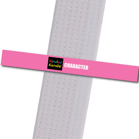 Kinder Karate - Character - Pink Custom Belt Stripes - BeltStripes.com : The #1 Source for Martial Arts Belt Tape