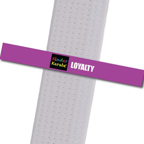 Kinder Karate - Loyalty Custom Belt Stripes - BeltStripes.com : The #1 Source for Martial Arts Belt Tape