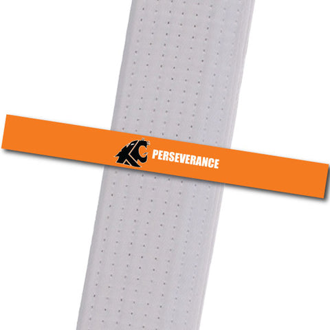 KuGar TKD - Perseverance - Black Logo Achievement Stripes - BeltStripes.com : The #1 Source for Martial Arts Belt Tape