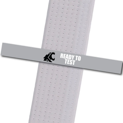 KuGar TKD - Ready to Test - Black Logo Achievement Stripes - BeltStripes.com : The #1 Source for Martial Arts Belt Tape