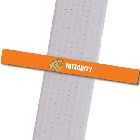 KuGar TKD - Integrity - Gold Logo Achievement Stripes - BeltStripes.com : The #1 Source for Martial Arts Belt Tape