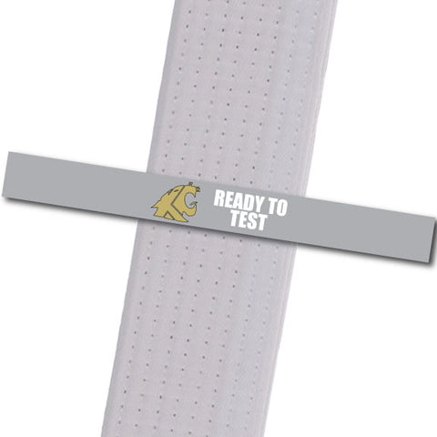 KuGar TKD - Ready to Test - Gold Logo Achievement Stripes - BeltStripes.com : The #1 Source for Martial Arts Belt Tape