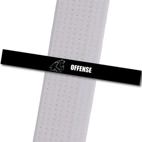 KuGar TKD - Offense - Black Logo Achievement Stripes - BeltStripes.com : The #1 Source for Martial Arts Belt Tape