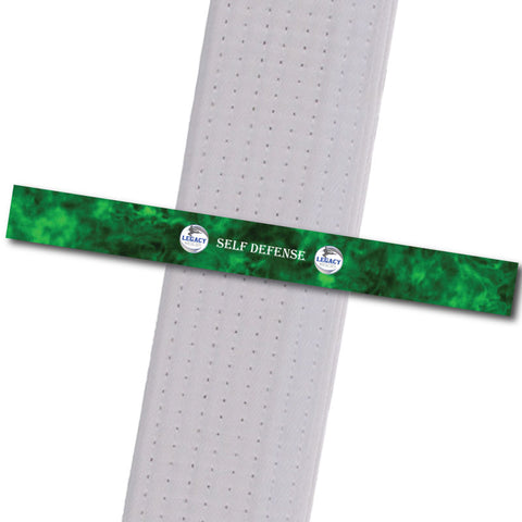 Legacy MA - Self Defense - Green Achievement Stripes - BeltStripes.com : The #1 Source for Martial Arts Belt Tape
