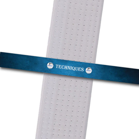 Legacy MA - Techniques - Blue Achievement Stripes - BeltStripes.com : The #1 Source for Martial Arts Belt Tape