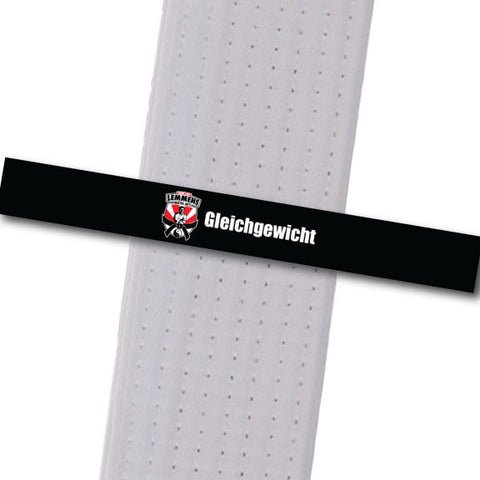 Lemmens Martial Arts - Gleichgewicht Achievement Stripes - BeltStripes.com : The #1 Source for Martial Arts Belt Tape