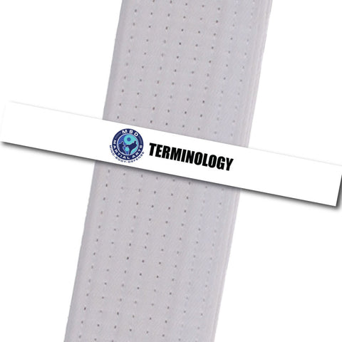 MBD Martial Arts - Terminology Custom Belt Stripes - BeltStripes.com : The #1 Source for Martial Arts Belt Tape