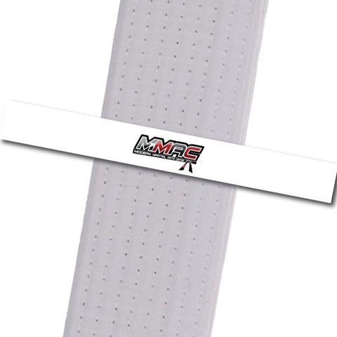 MMAC BeltStripes - White Custom Belt Stripes - BeltStripes.com : The #1 Source for Martial Arts Belt Tape