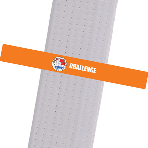 Martial Arts America - Challenge - Orange Custom Belt Stripes - BeltStripes.com : The #1 Source for Martial Arts Belt Tape