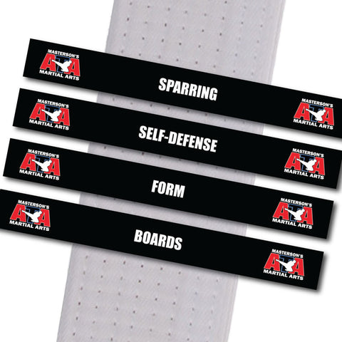Masterson's Martial Arts - Sets of all 4 Stripes Garaguso Classical Martial Arts - BeltStripes.com : The #1 Source for Martial Arts Belt Tape