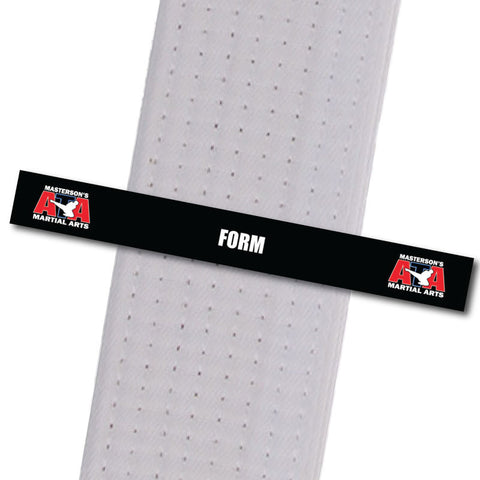 Masterson's Martial Arts Belt Stripes - Form Masterson's Martial Arts - BeltStripes.com : The #1 Source for Martial Arts Belt Tape