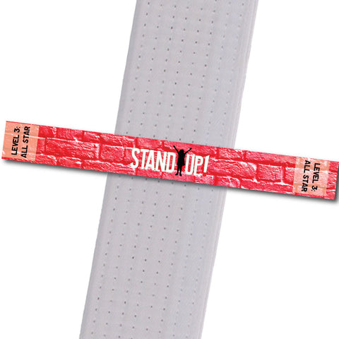 MatChats BeltStripes - Stand Up! - Level 3: All Star Achievement Stripes - BeltStripes.com : The #1 Source for Martial Arts Belt Tape