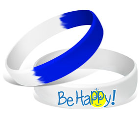 MatChats - Be Happy! Silicone Wrist Bands - Level 4: Champion Achievement Stripes - BeltStripes.com : The #1 Source for Martial Arts Belt Tape