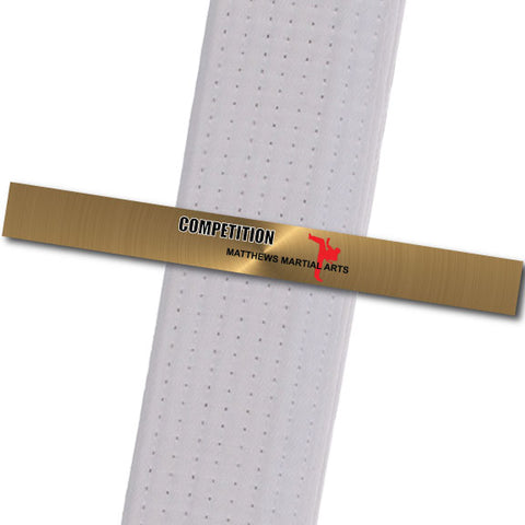 Matthews MA - Competition! - Gold Background Achievement Stripes - BeltStripes.com : The #1 Source for Martial Arts Belt Tape
