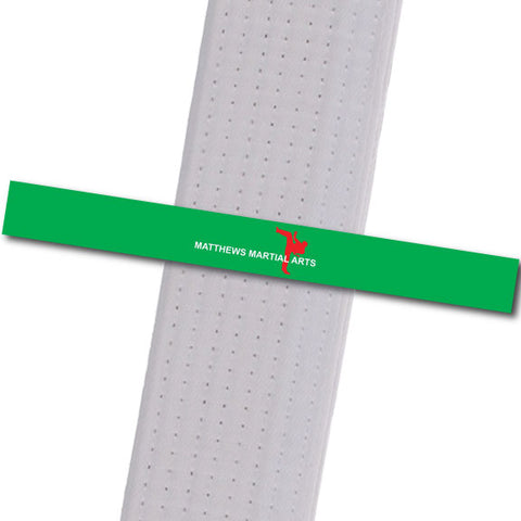 Matthews MA - Green - Logo Only Achievement Stripes - BeltStripes.com : The #1 Source for Martial Arts Belt Tape