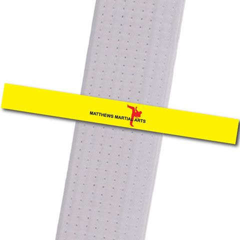 Matthews MA - Yellow - Logo Only Achievement Stripes - BeltStripes.com : The #1 Source for Martial Arts Belt Tape