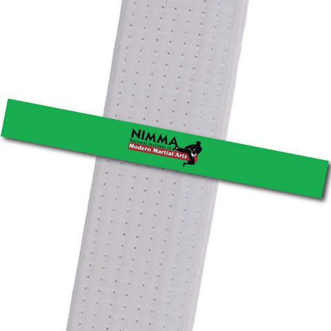 NIMMA - Logo only - Green Achievement Stripes - BeltStripes.com : The #1 Source for Martial Arts Belt Tape