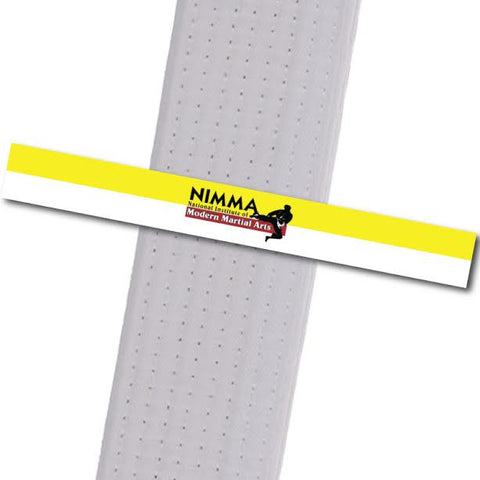 NIMMA - Logo Only - Yellow/White Achievement Stripes - BeltStripes.com : The #1 Source for Martial Arts Belt Tape