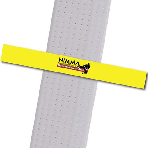 NIMMA - Logo Only - Yellow Achievement Stripes - BeltStripes.com : The #1 Source for Martial Arts Belt Tape
