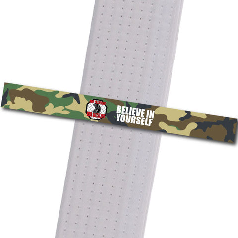 New Tradition - Believe in Yourself - Camo Custom Belt Stripes - BeltStripes.com : The #1 Source for Martial Arts Belt Tape