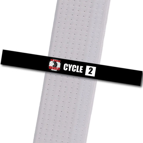 New Tradition - Cycle 2 with Box Custom Belt Stripes - BeltStripes.com : The #1 Source for Martial Arts Belt Tape