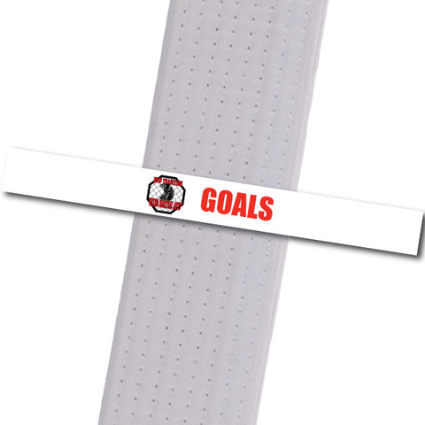 New Tradition -Goals - Red Custom Belt Stripes - BeltStripes.com : The #1 Source for Martial Arts Belt Tape