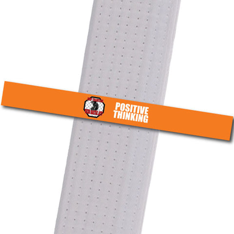 New Tradition - Positive Thinking Custom Belt Stripes - BeltStripes.com : The #1 Source for Martial Arts Belt Tape