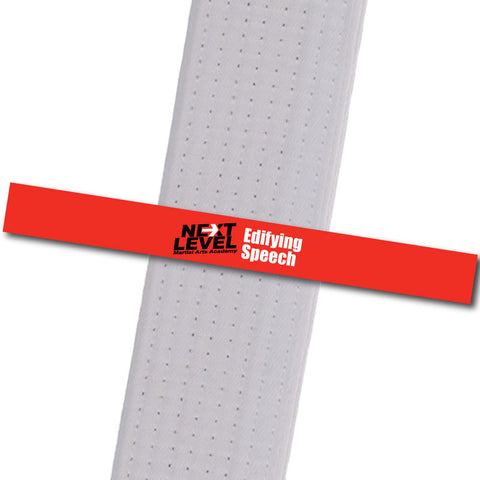 Next Level MA - Edifying Speech Achievement Stripes - BeltStripes.com : The #1 Source for Martial Arts Belt Tape