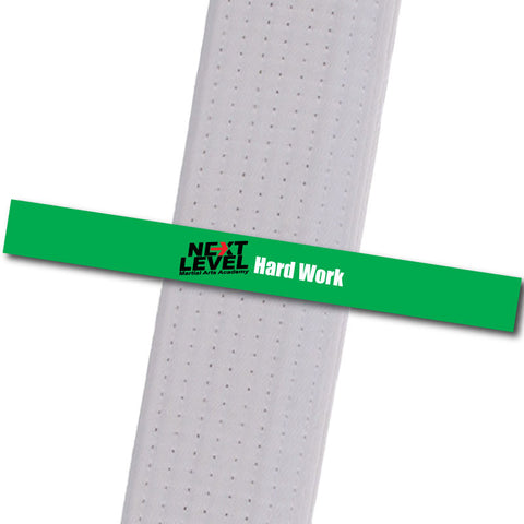 Next Level MA - Hard Work Achievement Stripes - BeltStripes.com : The #1 Source for Martial Arts Belt Tape